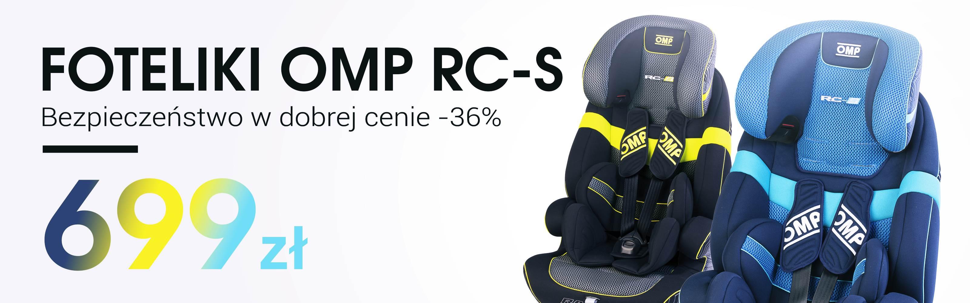 Foteliki OMP RC-S
